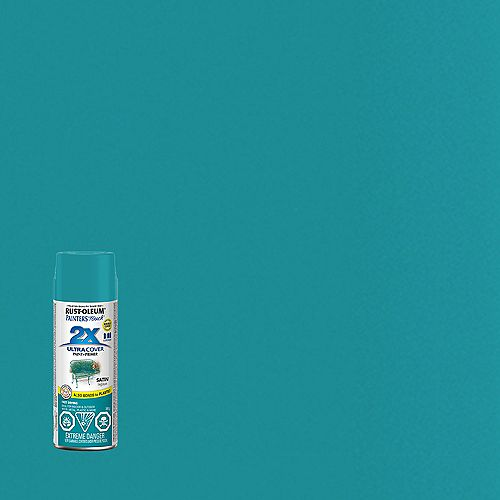 Ultra Cover Multi-Purpose Paint And Primer in Satin Lagoon, 340 G Aerosol Spray Paint