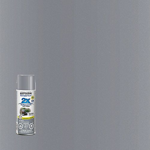 Ultra Cover Multi-Purpose Paint And Primer in Gloss Winter Grey, 340 G Aerosol Spray Paint
