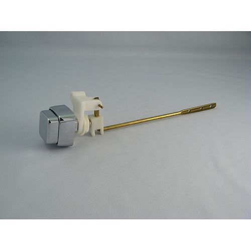 Replacement for SIDE Mount PUSH BUTTON Toilet Lever, Metal, fits most Toilets, Chrome Square Button