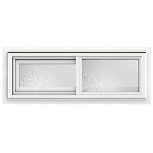 36-inch x 12-inch 3500 Series Sliding Vinyl Obscure Window - ENERGY STAR®