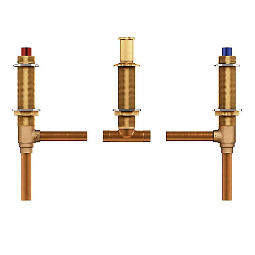 Two handle roman tub valve adjustable  In. cc connection