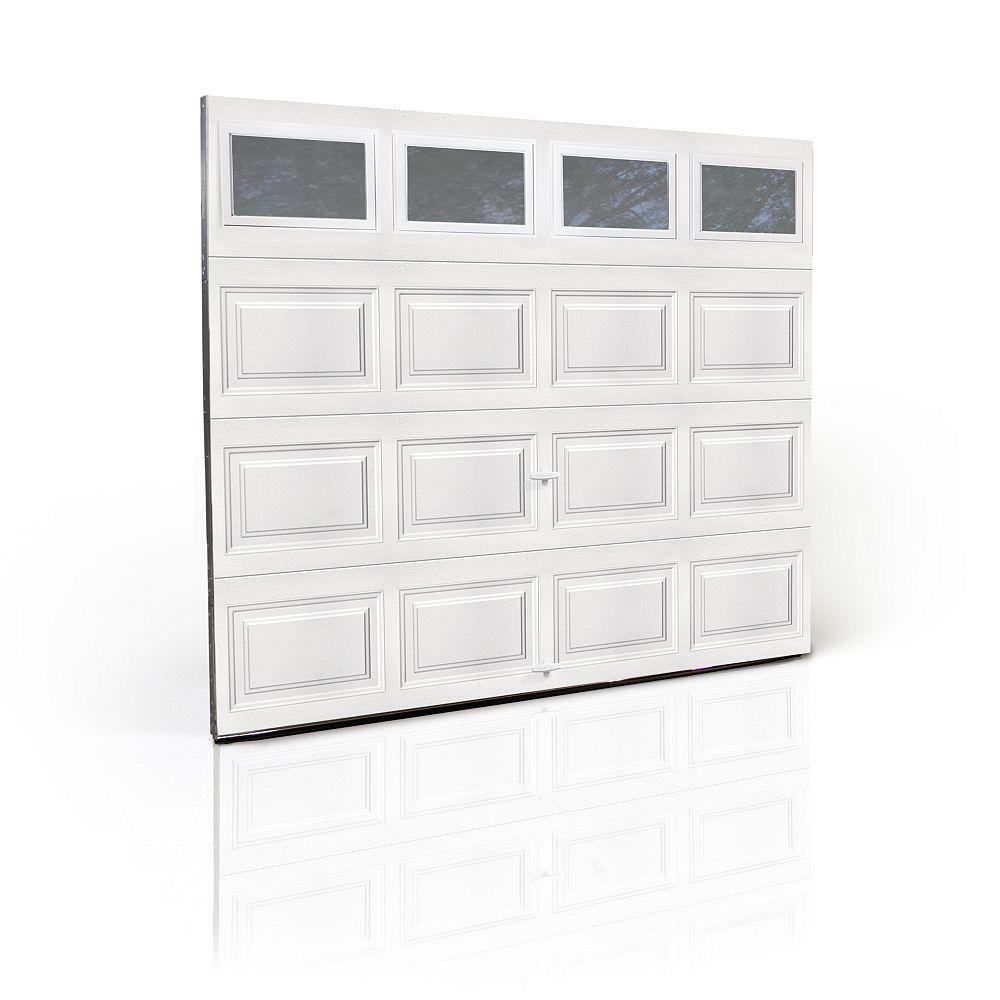 Clopay Porte de garage 3000SP, série Première, fenêtres unies isolées, système de ressort, 9pi x 7pi, blanc