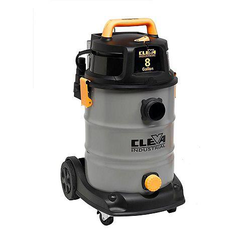 """Aspirateur sec/humide industriel de 30L / 8 Gallons US Moteur à 2 étapes tuyau 2.5"""""""