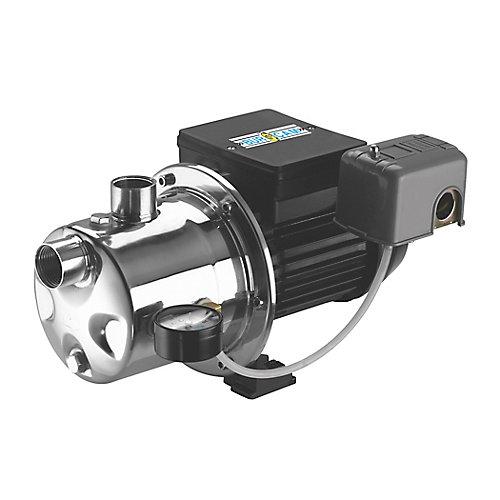 Pompe à jet d'acier inoxydable 3/4 HP