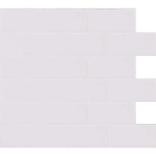 Tuile Metro Blanc Stick-It 11.25X10 En Gros (8 tuiles)