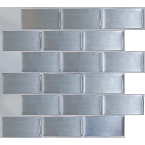Steel Subway Peel and Stick-It tile 11.25X10 Bulk Pack (8 Tiles)