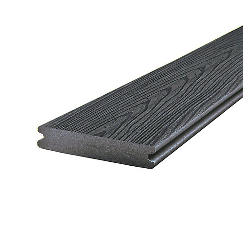 1-inch x 5 1/4-inch x 12 ft. Enhanced Capped and Grooved Composite Decking in Clam Shell