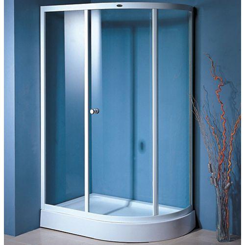 Gallileo - Sliding Shower Door and Base - Left Hand Drain