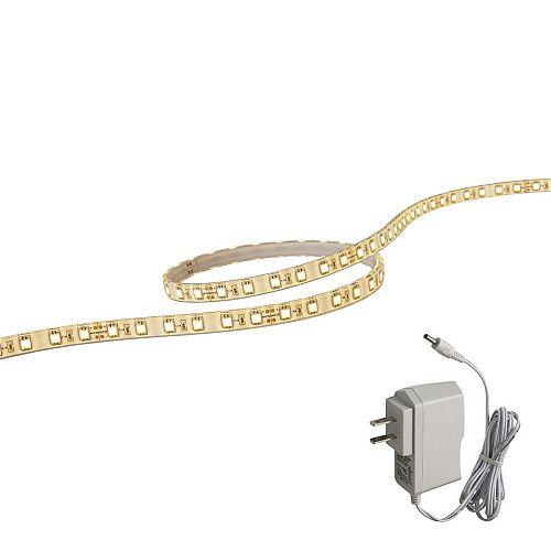 39 Inches (1M) White LED FlexTape With Plug In Dirver
