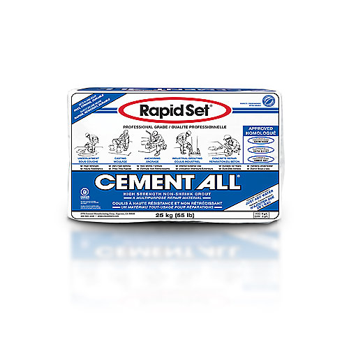 Matériau de construction à usages multiples Cement All 55 lb