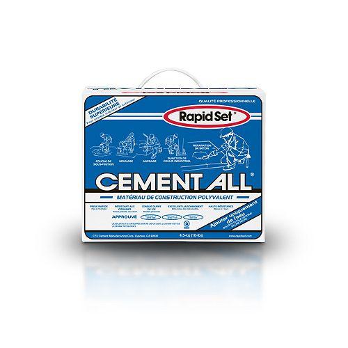 Rapid Set Matériau de construction à usages multiples Cement All 10 lb