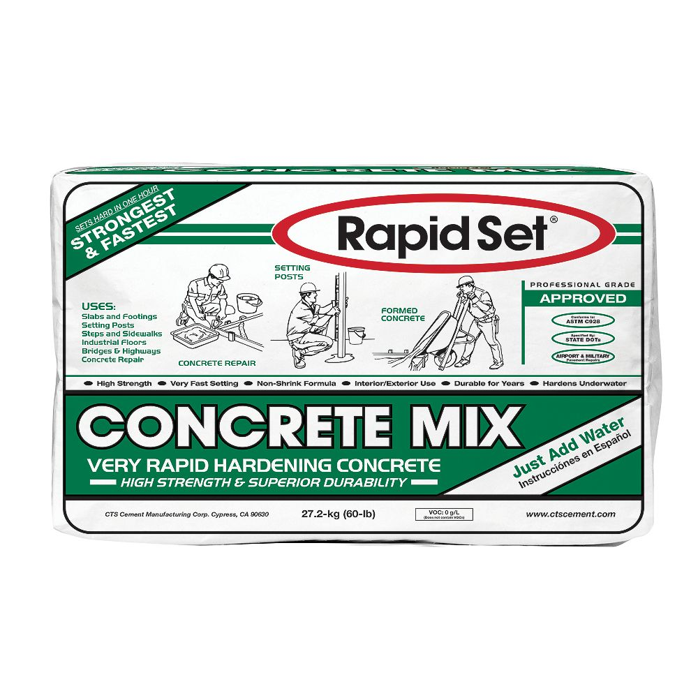 Rapid Set 60 Lb Concrete Mix The Home Depot Canada