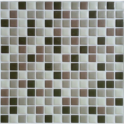 Brown Mini Peel and Stick-It tile 10X10 (8-Pack)