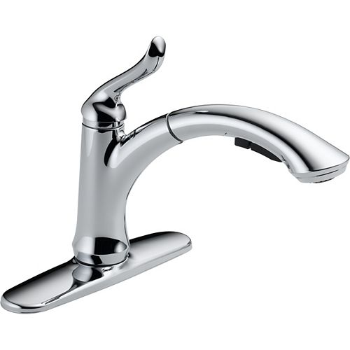 Linden Single-Handle Pull-Out Sprayer Kitchen Faucet in Chrome