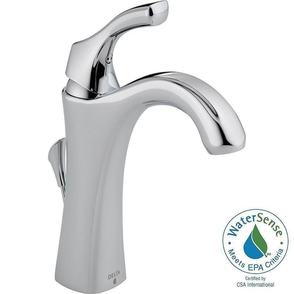 Delta Addison Single Hole 1-Handle High Arc Bathroom Faucet in Chrome with Lever Handle