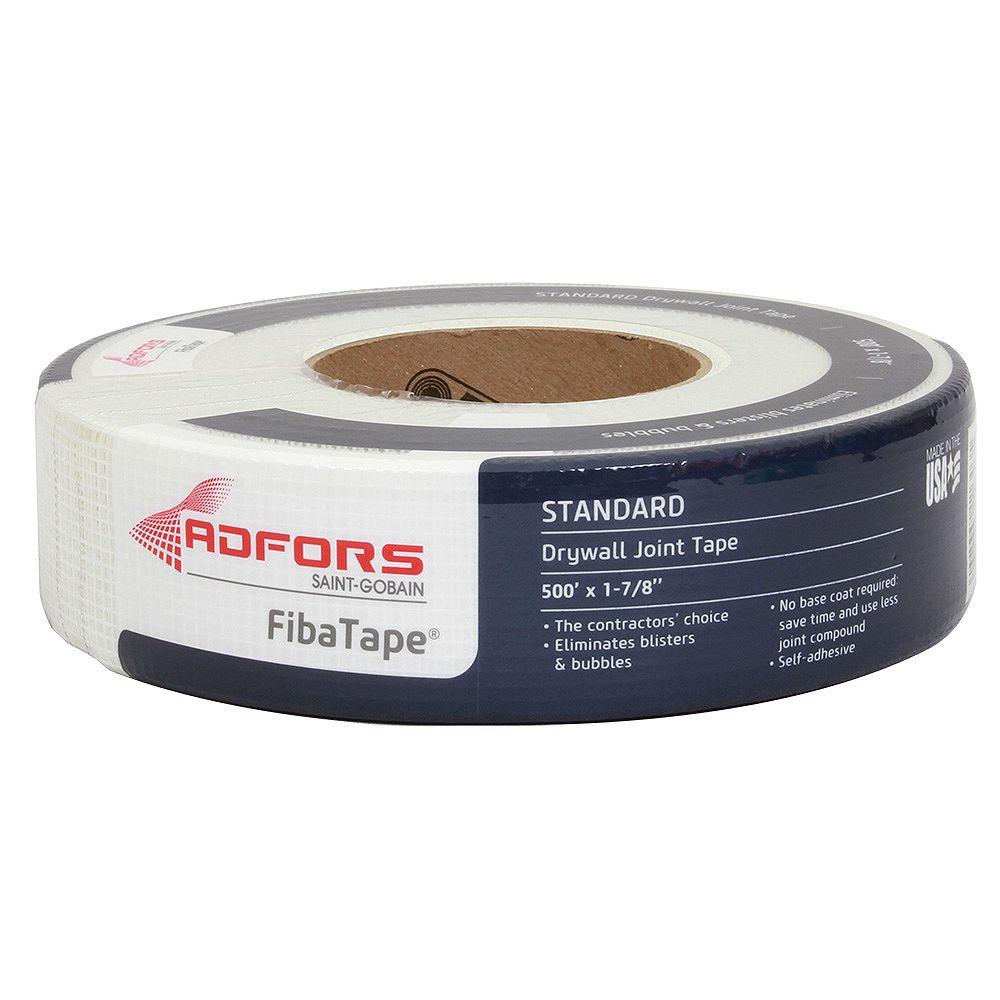Saint-Gobain ADFORS FibaTape 1-7/8 in. x 500 ft. White Self-Adhesive Mesh Drywall Joint Tape