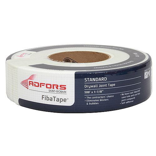 FibaTape 1-7/8 in. x 500 ft. White Self-Adhesive Mesh Drywall Joint Tape