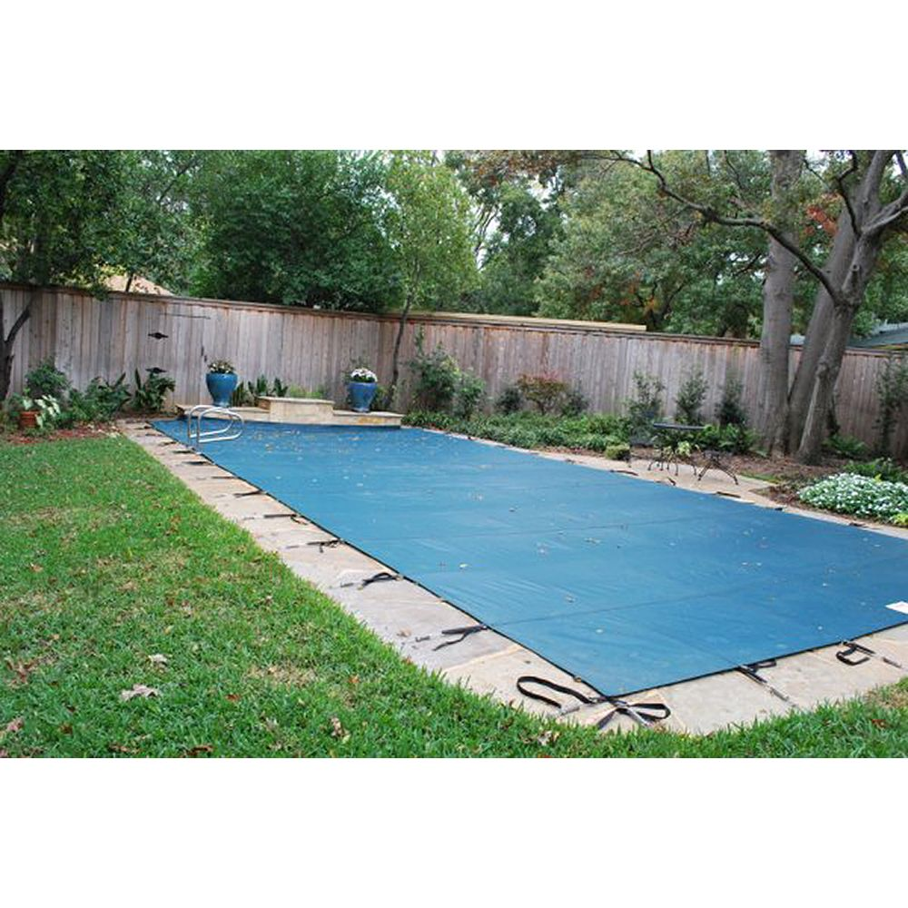 Water Warden 12 Ft X 24 Ft Green Mesh Pool Safety Cover The Home Depot Canada