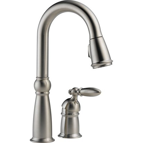 Victorian Single Handle Bar/Prep Faucet, Stainless Steel