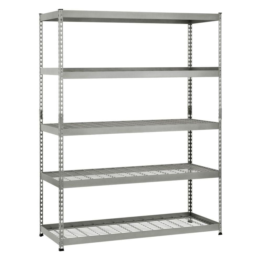 78-inch H x 60-inch W x 24-inch D 5-Shelf Steel Unit
