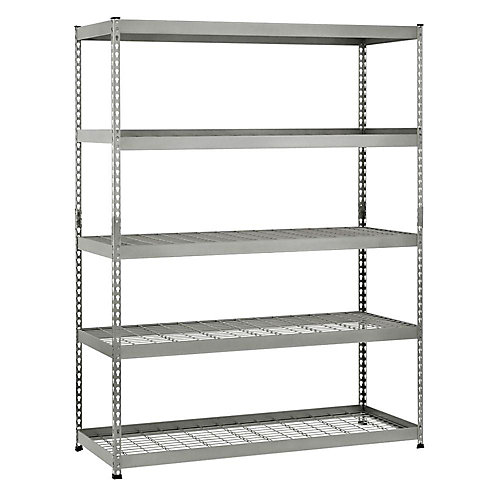 78-inch H x 60-inch W x 24-inch D 5 Shelf Steel Unit
