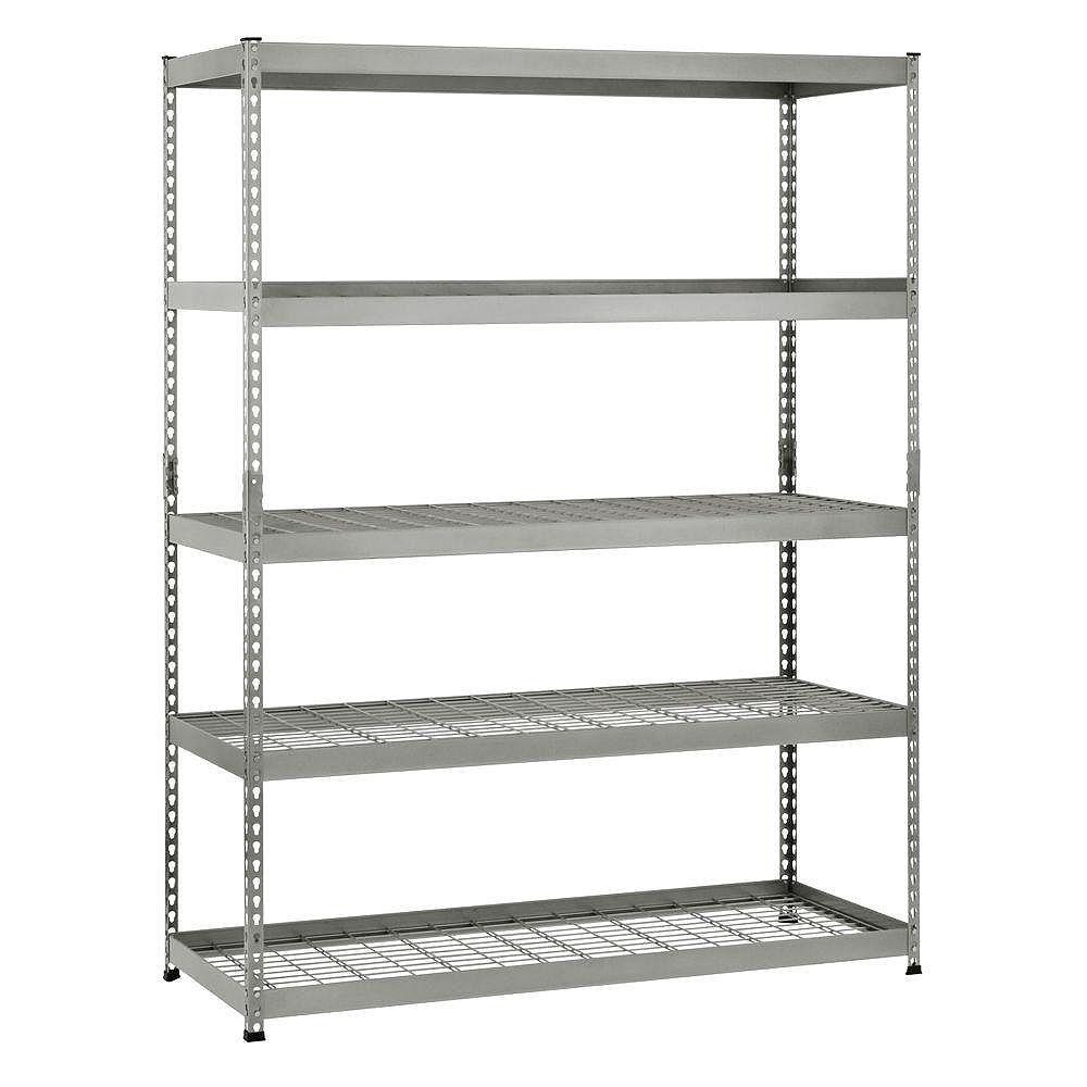 Husky 78-inch H x 60-inch W x 24-inch D 5-Shelf Steel Unit