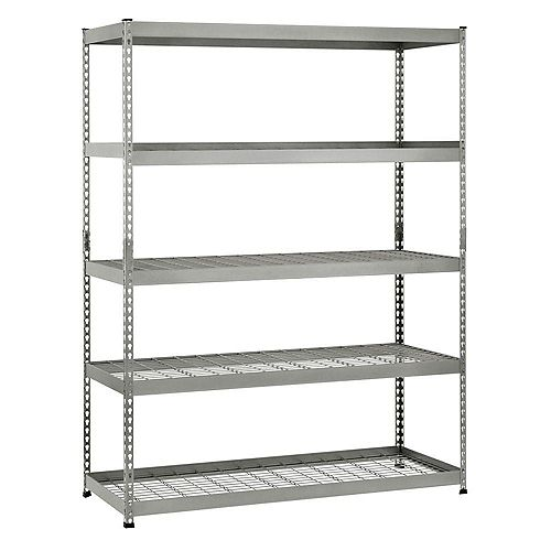 78-inch H x 60-inch W x 24-inch D 5-Shelf Steel Unit