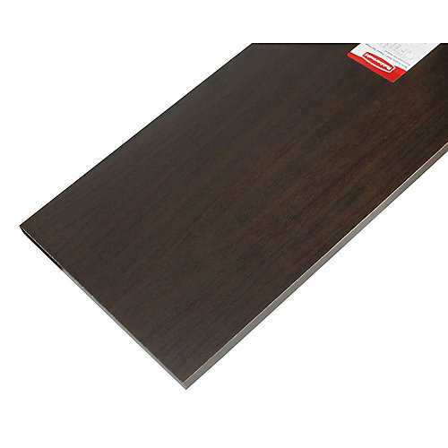 12-inch x 48-inch Wood Shelf in Espresso