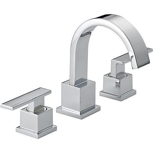 Vero Widespread (8-inch) 2-Handle High Arc Bathroom Faucet in Chrome with Lever Handles