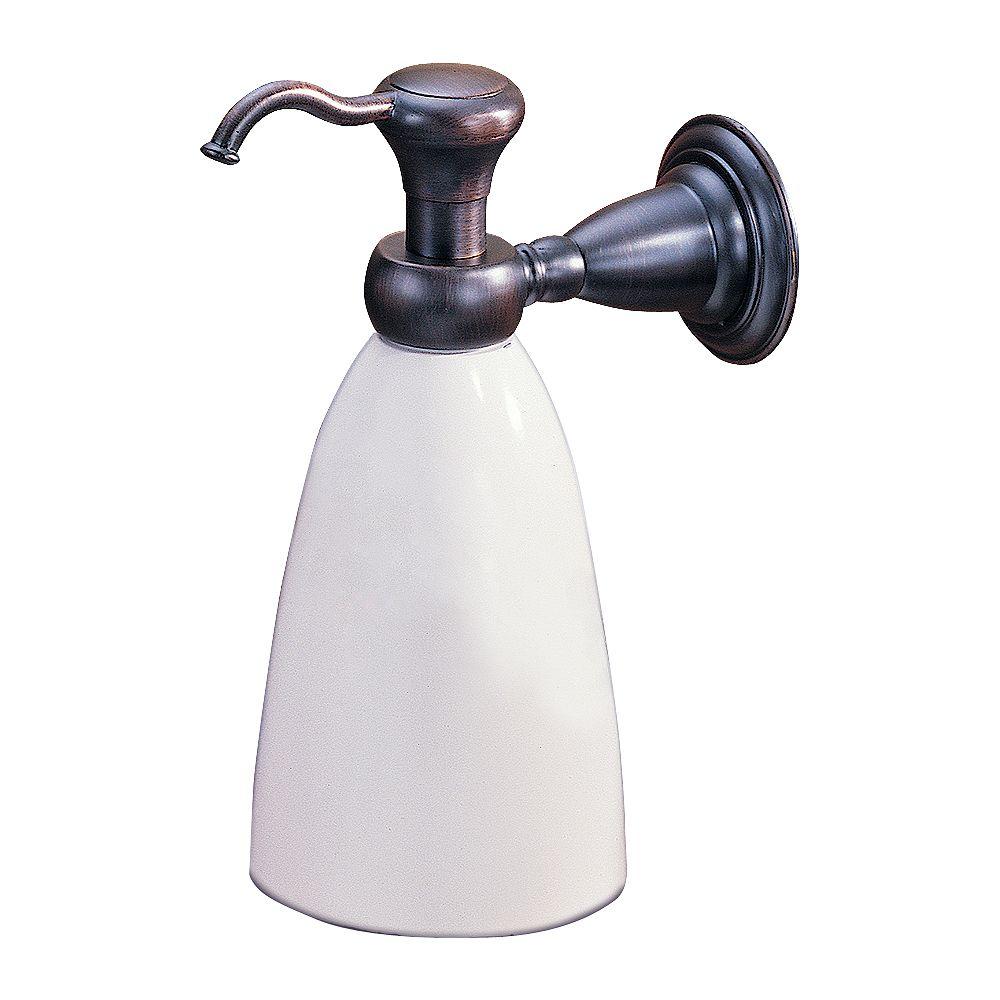 Delta Victorian Wall-Mount Brass and Plastic Soap Dispenser in Venetian Bronze