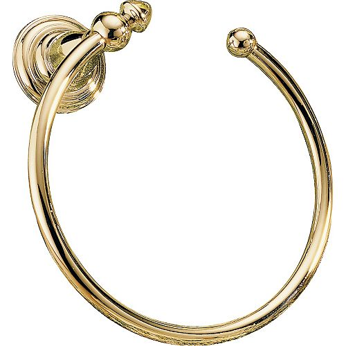 Victorian Open Towel Ring in Polished Brass