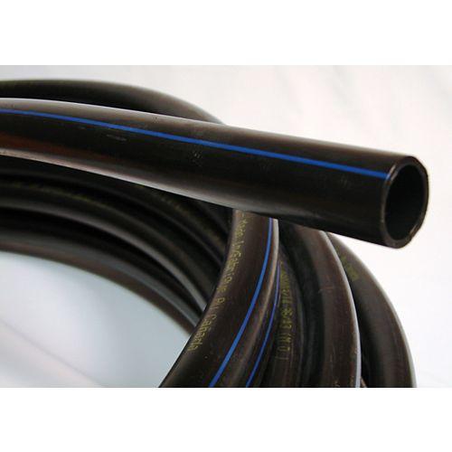 Poly Pipe 3/4 Inch X 100 Feet 100PSI Blue Stripe