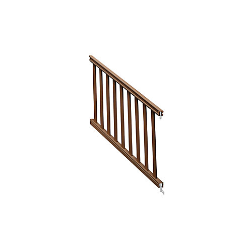 36 ins x 6 feet  Chestnut traditional stair rail kit