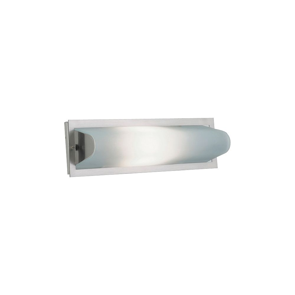 Contemporary Beauty 1 Light Bath Light with Satin Nickel Glass and Satin Nickel Finish