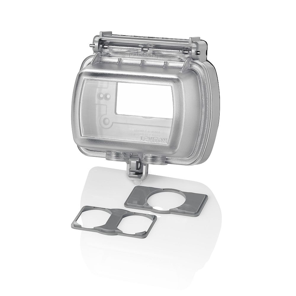 Leviton Horizontal Decora Weather Resistant cover, Clear
