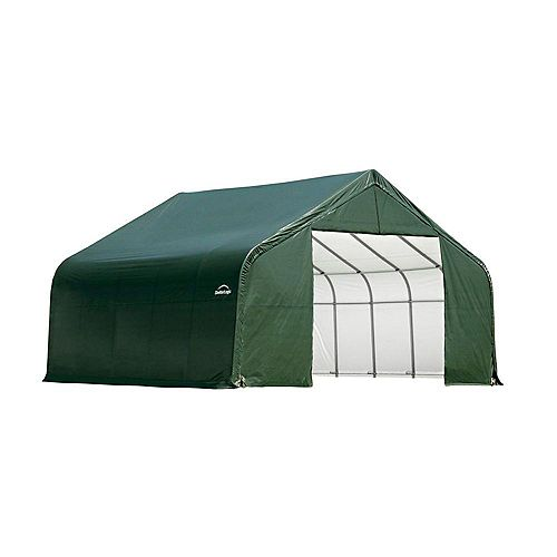 ShelterCoat 28 x 24 ft. Garage Peak Green STD