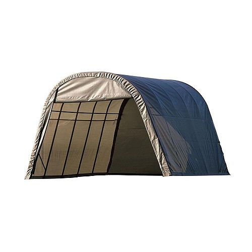 13 ft. x 28 ft. x 10 ft. Round Style Shelter with Grey Cover