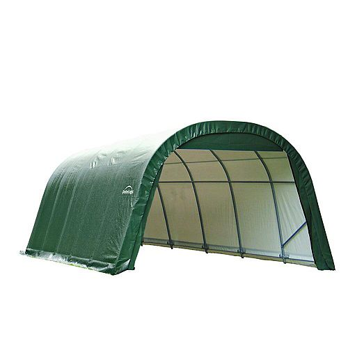 ShelterCoat 12 x 28 ft. Wind and Snow Rated Garage Round Green STD