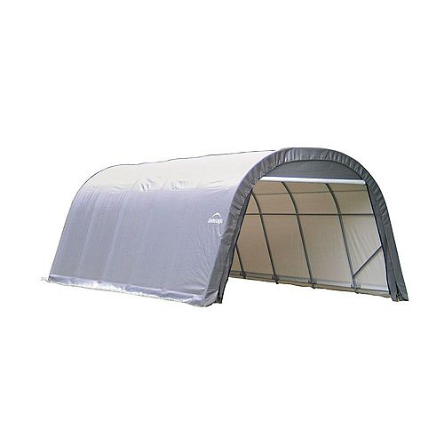 ShelterCoat 12 x 28 ft. Wind and Snow Rated Garage Round Gray STD