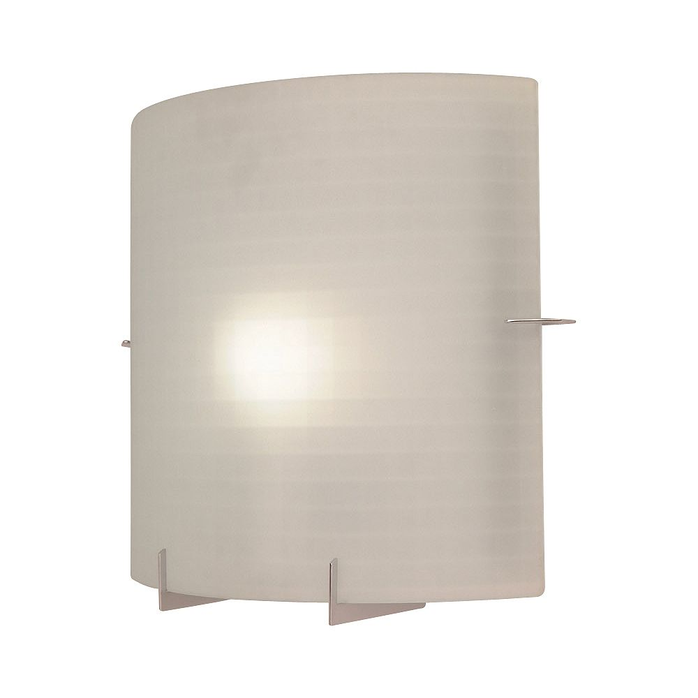 Contemporary Beauty 1 Light Sconce with Acid Frost Glass and Polished Chorme Finish