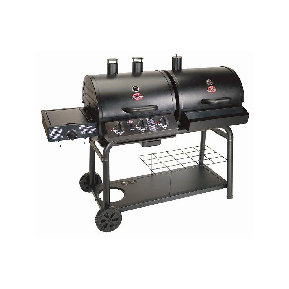Char-Griller Duo 3-Burner Propane Gas/Charcoal BBQ