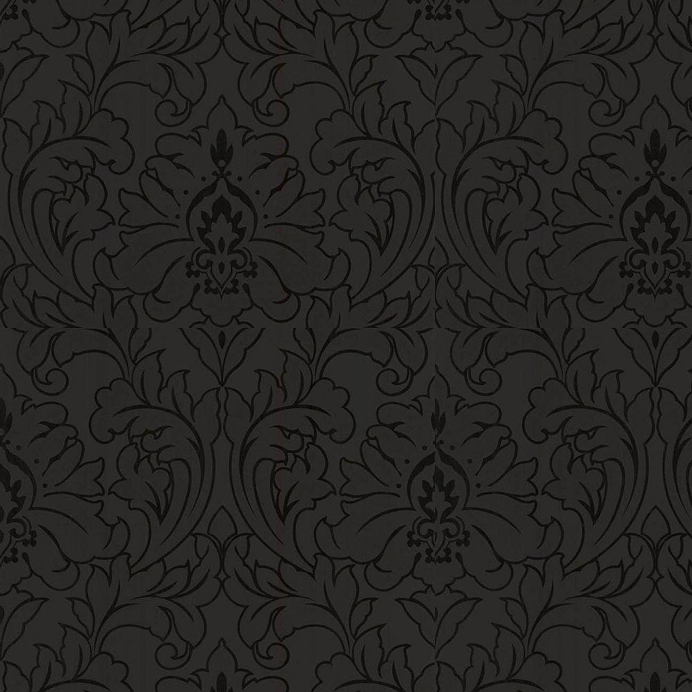 Superfresco Majestic 8-inch x 5 3/4-inch Black Wallpaper Sample