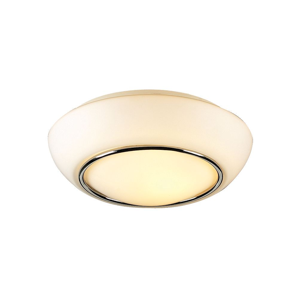 Contemporary Beauty 1 Light Flush Mount with Matte Opal Glass and Polished Chorme Finish