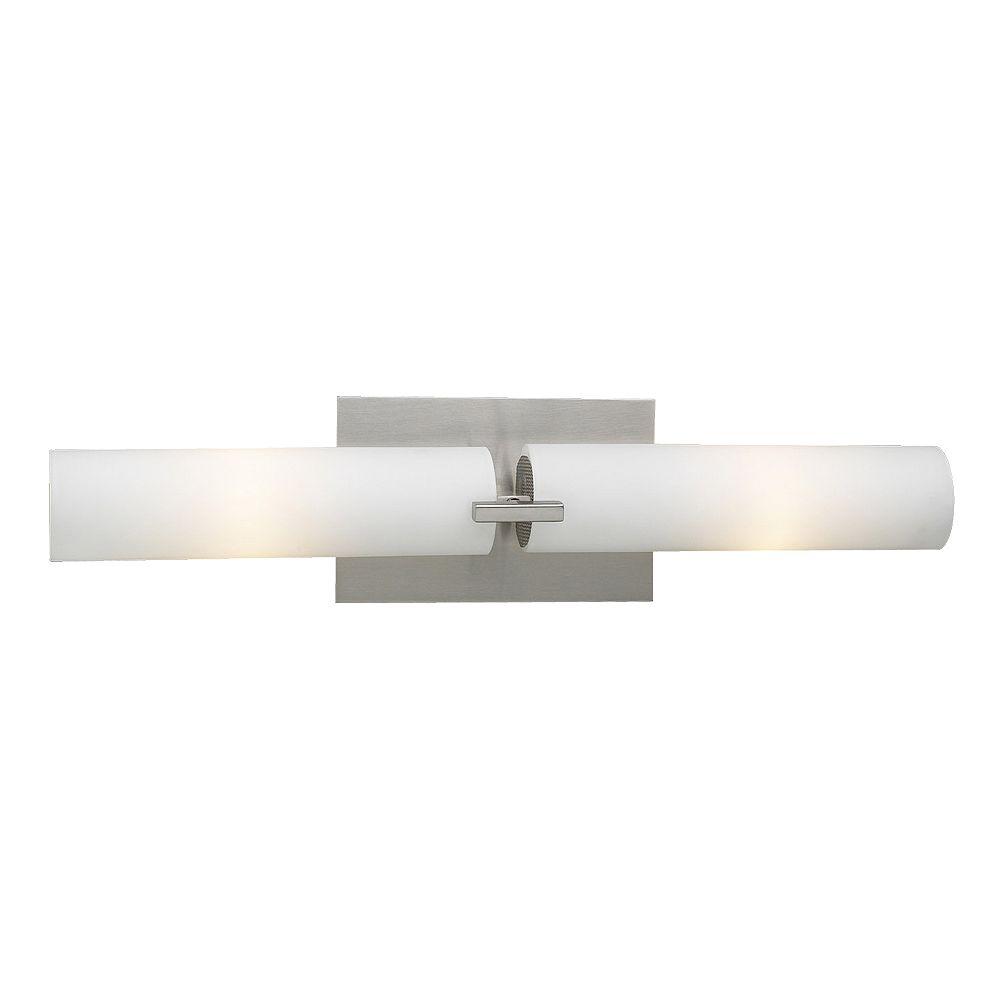 Contemporary Beauty Lumière fixée au mur à deux ampoules avec abat-jour de spécialité, finition de spécialité