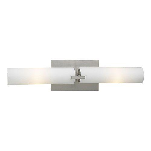 3 Light Bath Light with Matte Opal Glass and Satin Nickel Finish