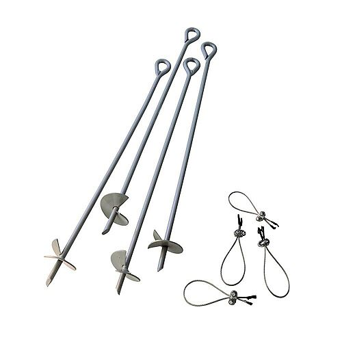 30-inch Earth Anchors Set (4-Piece)