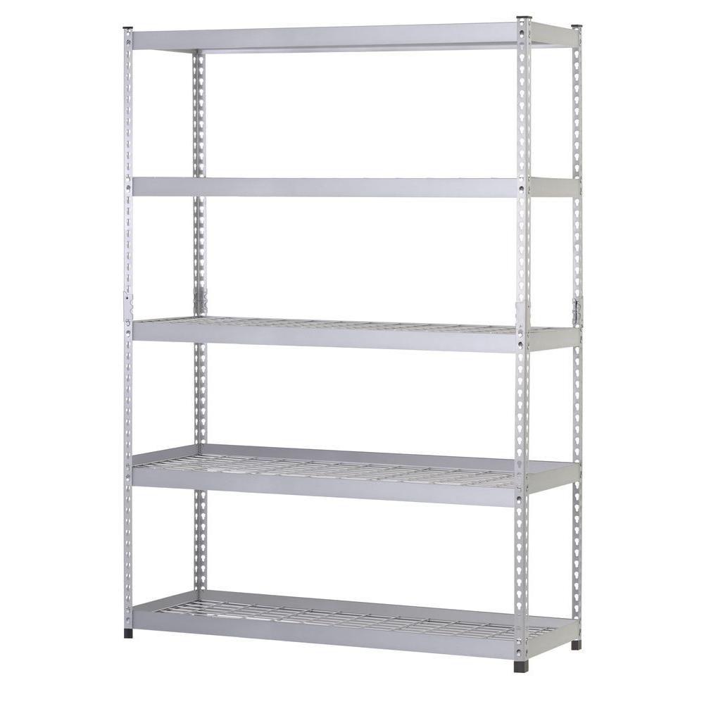 78-inch H x 48-inch W x 24-inch D 5 Shelf Steel Unit