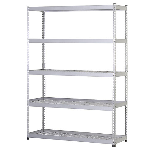 78-inch H x 48-inch W x 24-inch D 5 Shelf Steel Unit