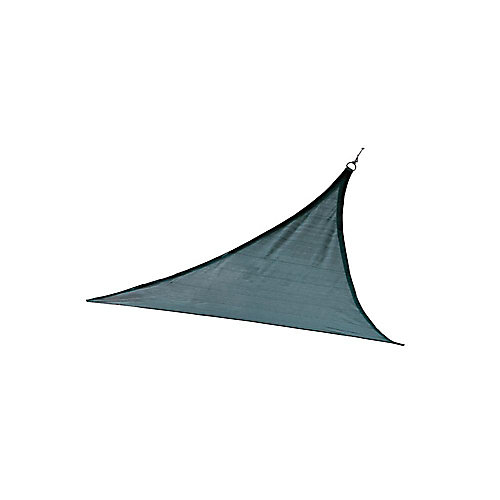 12 ft. Triangle Sun Shade Sail in Sea Blue