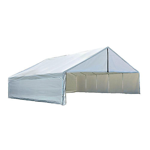 Ultra Max 30 ft. x 40 ft. White Industrial Canopy Enclosure Kit